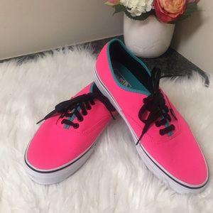 NWOT Hot pink Vans